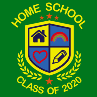 Home School - Class of 2020 - Embroidered Children's Zipped Hoodie Design