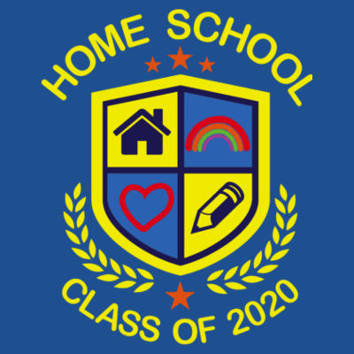 Home School - Class of 2020 - Embroidered Adult T-Shirt Design
