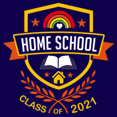 Home School - Class of 2021 - Embroidered Children's Zipped Hoodie Design