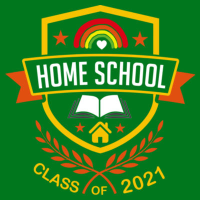 Home School - Class of 2021 - Embroidered Adult Zipped Hoodie Design